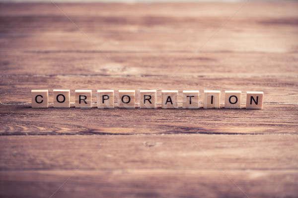 Business Unternehmen Gesellschaft Unternehmen Wort Elemente Stock foto © adam121