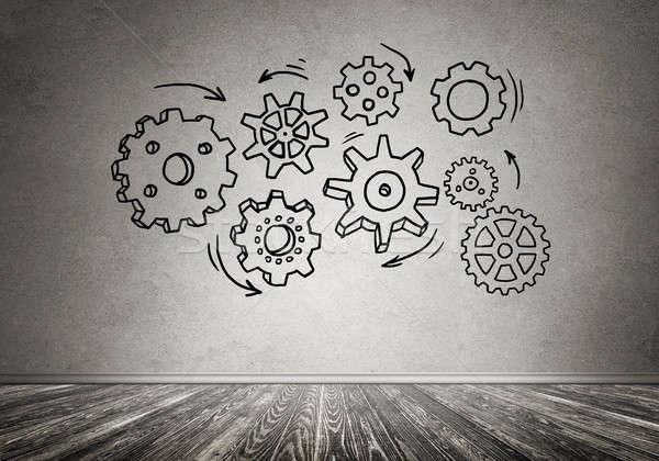 Gear mechanism as teamwork concept Stock photo © adam121