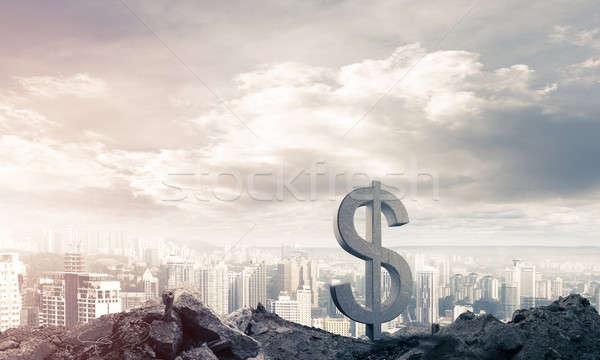 Dinheiro riqueza pedra dólar símbolo Foto stock © adam121