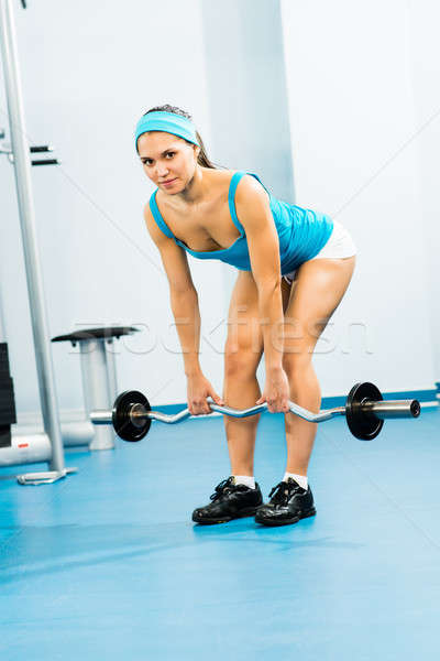 Mulher jovem ginásio viver vida saudável fitness Foto stock © adam121
