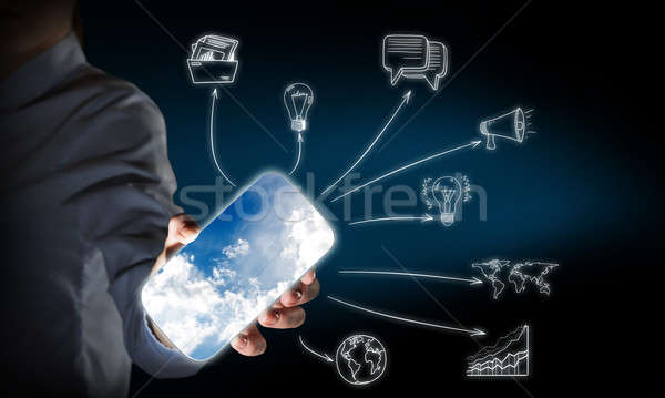 Smartphone interface application Stock photo © adam121