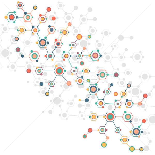 Colorato geometrica sfondo abstract medicina scienza Foto d'archivio © adam121