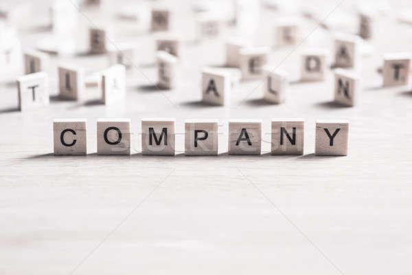 üzlet cég vállalat cég szó elemek Stock fotó © adam121