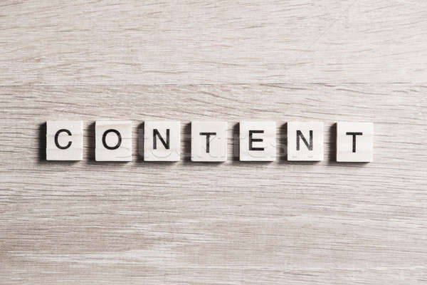 Content word of wooden elements Stock photo © adam121