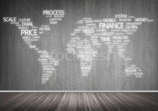 World map in typography Stock photo © adam121
