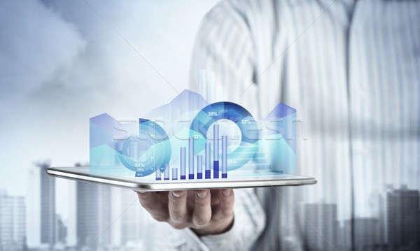 Presenteren gemiddelde verkoop verslag sluiten Stockfoto © adam121