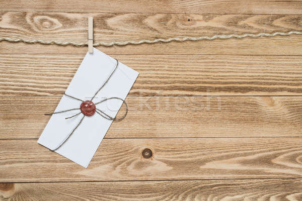 Mail busta corda impiccagione legno texture Foto d'archivio © adam121