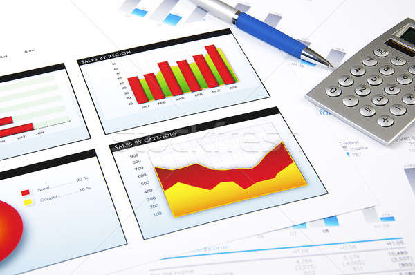 charts, documents, business stilllife Stock photo © adam121