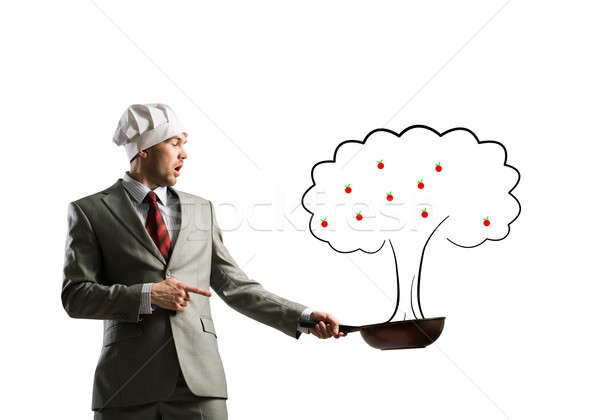 üzlet növekedés jóképű üzletember visel szakács Stock fotó © adam121