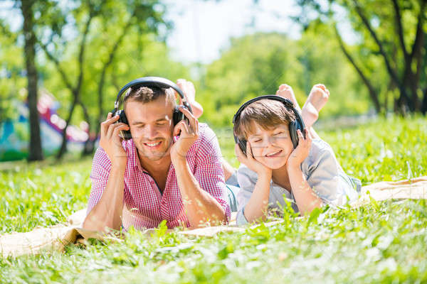 Father and son in park Stock photo © adam121