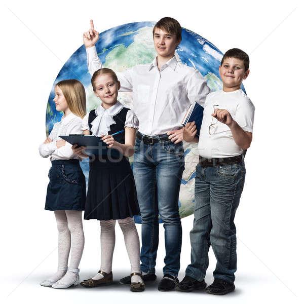 Gelecek meslek çocuklar okul yaş farklı Stok fotoğraf © adam121
