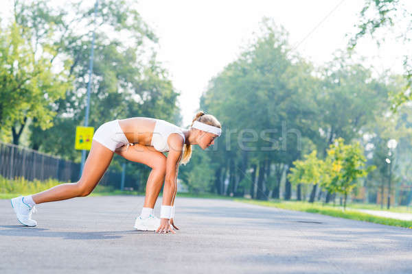 Athlete at start Stock photo © adam121