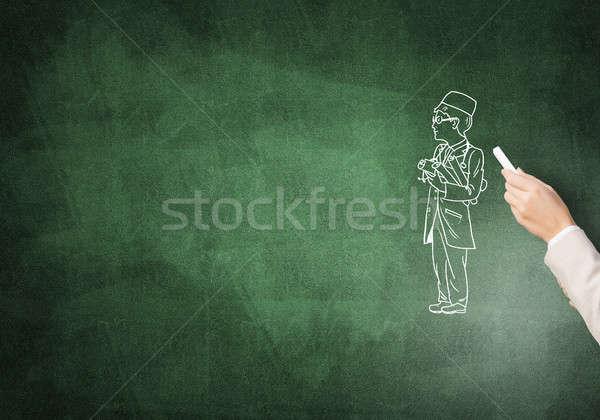 мужской доктор женщины стороны рисунок мелом врач Сток-фото © adam121