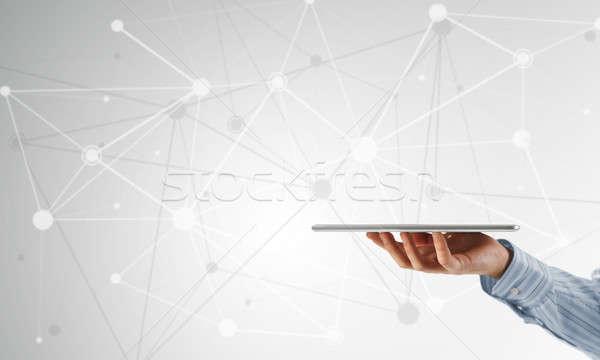 Conexión interacción cerca vista empresario Foto stock © adam121