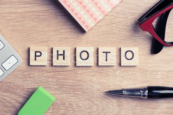 CMYK abbreviation of blocks as photography concept on business w Stock photo © adam121