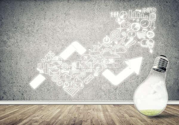 Effectief marketing ideeën glas gloeilamp Stockfoto © adam121
