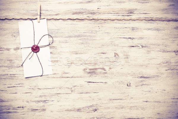 почты конверт веревку подвесной бумаги Сток-фото © adam121