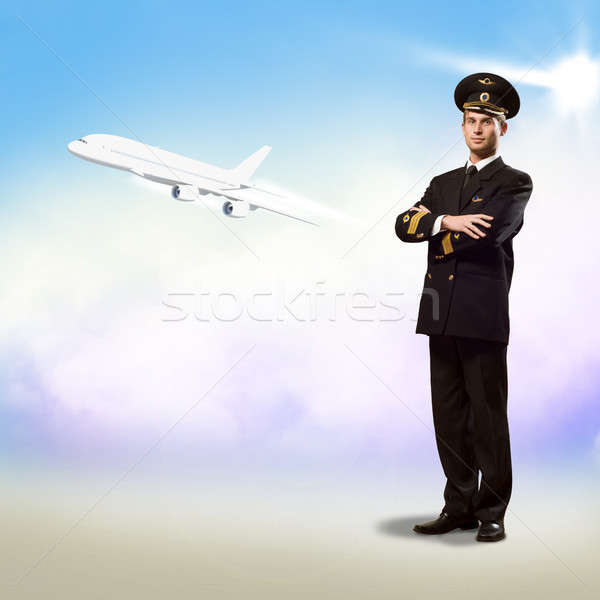 pilot is in the form of arms crossed Stock photo © adam121