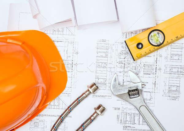 Plomberie dessins construction still life bureau Photo stock © adam121
