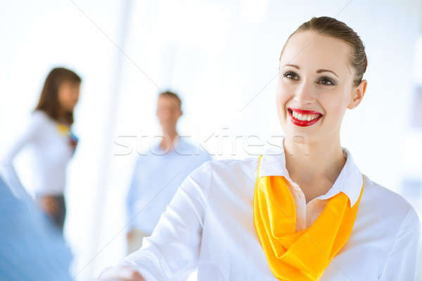 business woman shaking hands with a client Stock photo © adam121