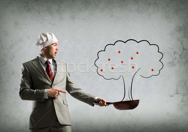 Afaceri creştere frumos om de afaceri găti Imagine de stoc © adam121