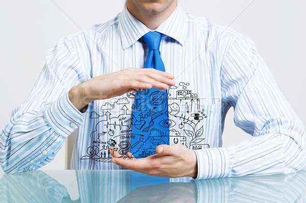 Businessman demonstrate his business plan Stock photo © adam121
