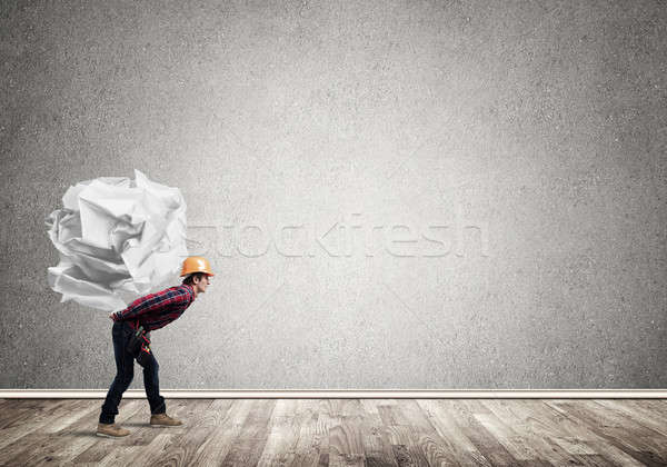 Stockfoto: Ingenieur · man · laden · bouwer