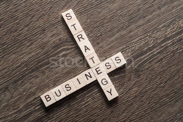 üzlet asztal elemek játék készít keresztrejtvény Stock fotó © adam121