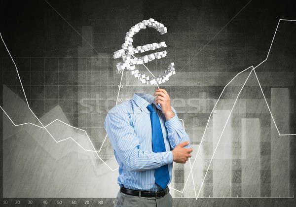 постоянно мышления деньги бизнесмен евро знак Сток-фото © adam121