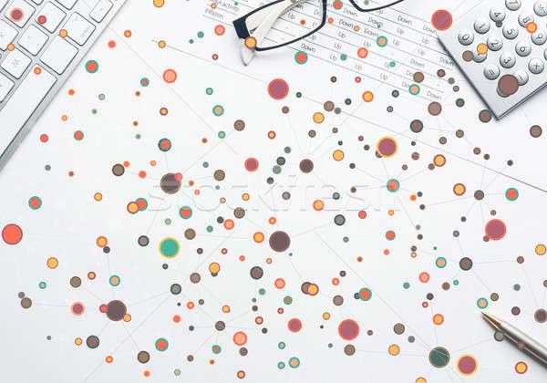 Coloré géométrique fond résumé médecine science Photo stock © adam121