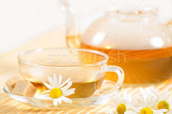 Tazza da tè camomilla tè teiera fiore Foto d'archivio © adam121