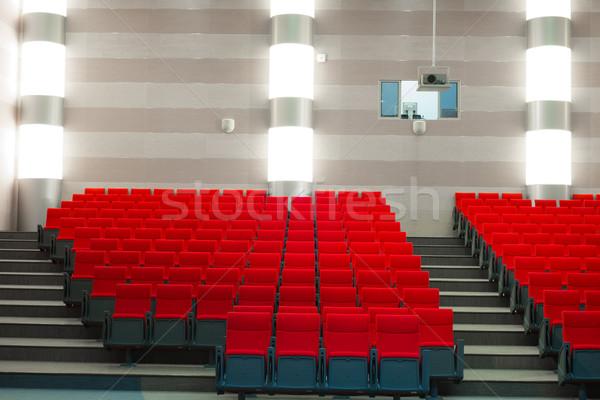 Film teatro immagine cinema auditorium rosso Foto d'archivio © adam121