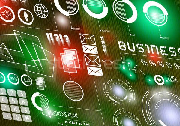 Innovador digital negocios imagen iconos Foto stock © adam121