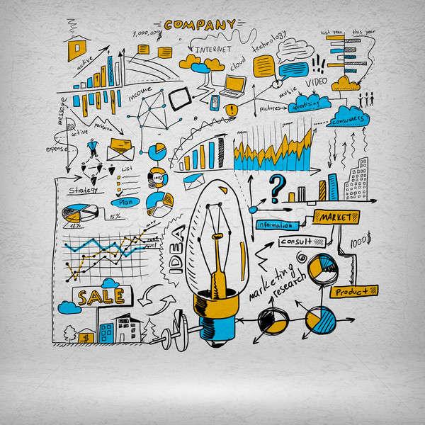 Sketch of some ideas Stock photo © adam121