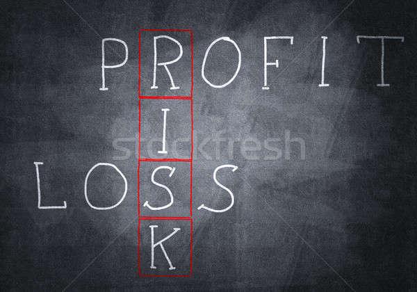 Krijt kruiswoordraadsel studeren Blackboard school Stockfoto © adam121