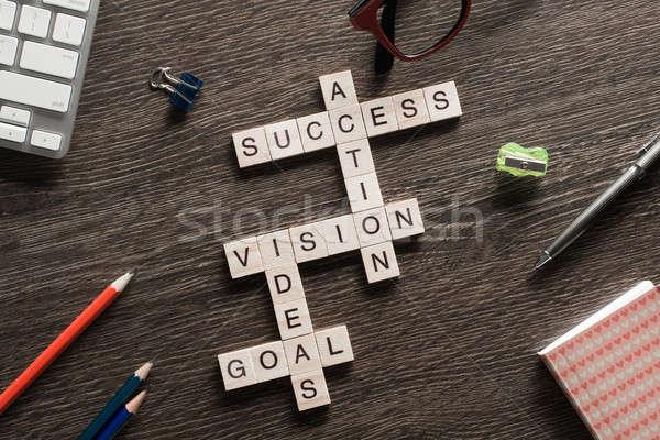成功 ビジネス 木製 キューブ クロスワード その他 ストックフォト © adam121