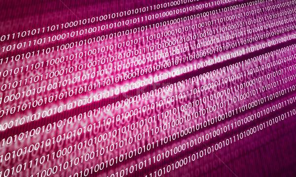 Bináris kód kép biztonság számítógép terv háttér Stock fotó © adam121