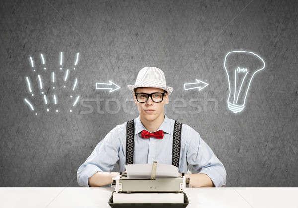 Guy writer Stock photo © adam121