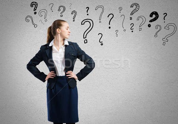 Thinking businesswoman  Stock photo © adam121