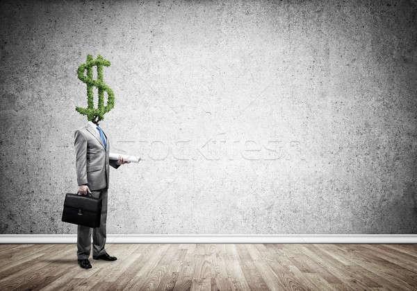 Altijd denken geld zakenman dollar groene Stockfoto © adam121