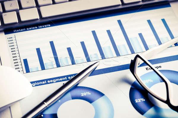 平均 販売 レポート ビジネス 職場 キーボード ストックフォト © adam121