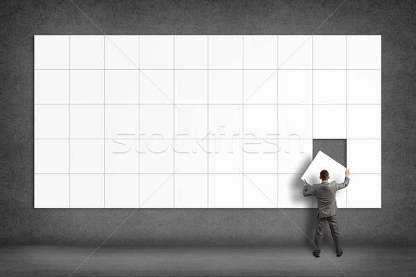 businessman collects place for text Stock photo © adam121