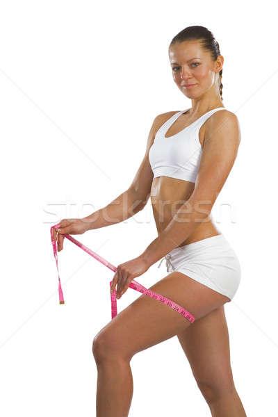 Mujer muslo imagen jóvenes Foto stock © adam121