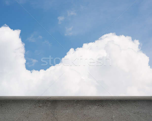 oncrete parapet and blue sky Stock photo © adam121