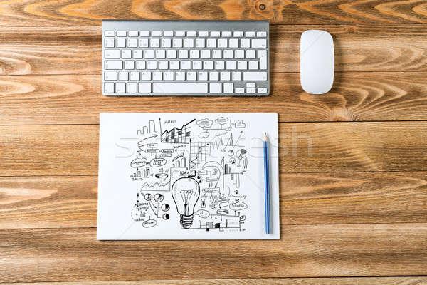Sketching good ideas Stock photo © adam121