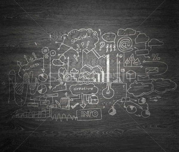 Studie business wetenschap effectief planning grijs Stockfoto © adam121