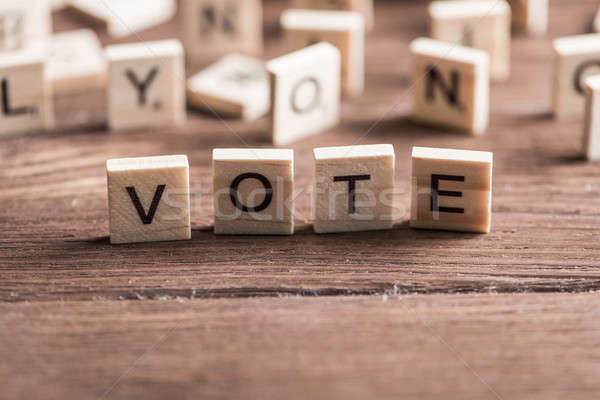 Votar palavra elementos cartas tabela Foto stock © adam121
