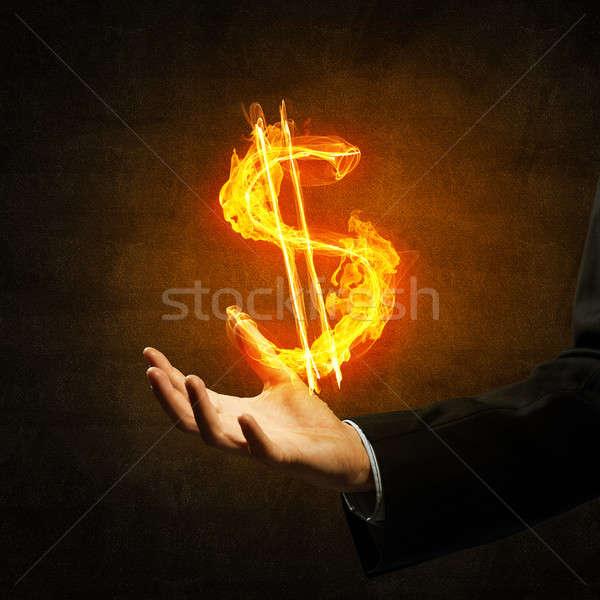 Dolar para yangın simge yakın işadamı Stok fotoğraf © adam121