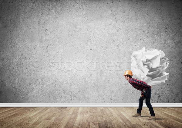 Mühendis adam yük oluşturucu Stok fotoğraf © adam121