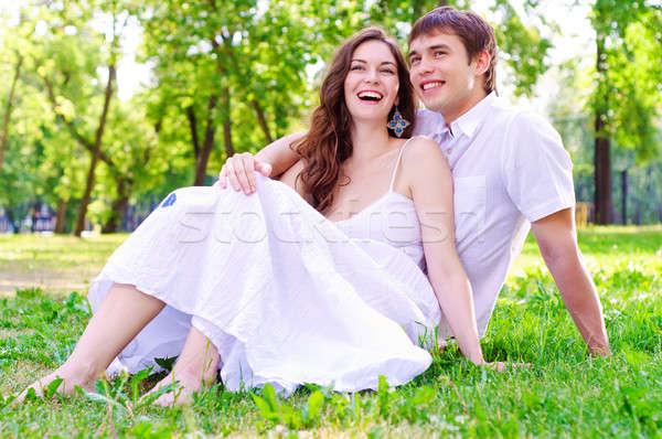 couple in the park Stock photo © adam121